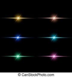 Abstract  beam Light set