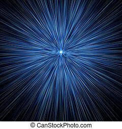 space blast - abstract  beams on black,  space blast