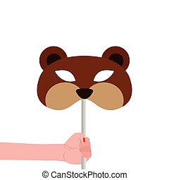 Abstract Bear Mask On A Special Background