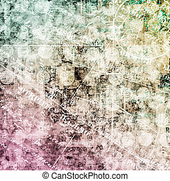 Abstract beautiful background in the style of mixed media