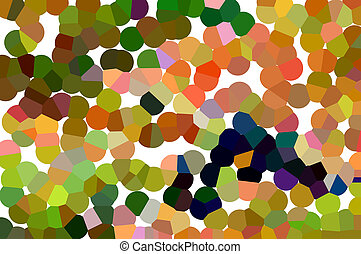 Abstract beautiful background with bright circles of brown, purple, green, orange, blue, red, pink, yellow shades on a white background