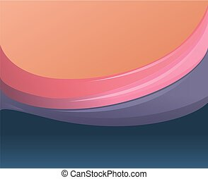 Abstract beautiful background with multicolored waves. Vector