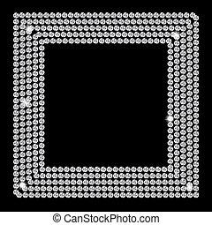 Abstract beautiful black diamond background vector...