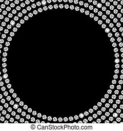 Abstract beautiful black diamond background vector...