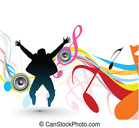 dancing background - abstract beautiful dancing background, ...