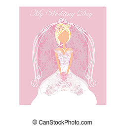 Abstract Beautiful floral bride card