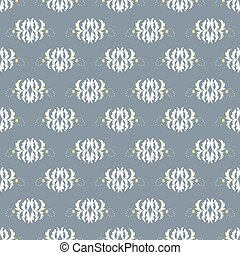 Abstract beautiful flowers on gray background seamless pattern vector illustration