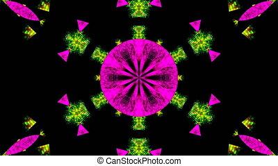 Abstract beautiful kaleidoscope background, 3d render...