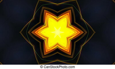 Abstract beautiful kaleidoscope background as petals of...