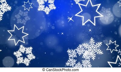 Abstract Beautiful Light Blue loopable winter snow snowflake...