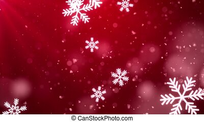 Abstract Beautiful Light Red loopable winter snow snowflake ...