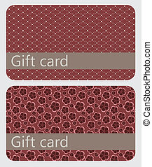 abstract beautiful set of gift card design