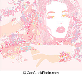Abstract Beautiful Woman Portrait
