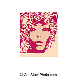 Abstract Beautiful Woman poster