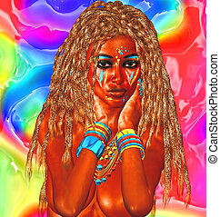 abstract, beauty, achtergrond, afrikaan