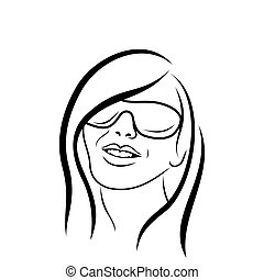 abstract beauty face girl avatar