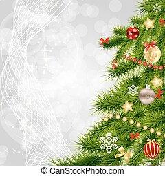 abstract, beauty, kerstmis en nieuw jaar, achtergrond., vector, illustratie