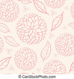 beauty seamless floral pink