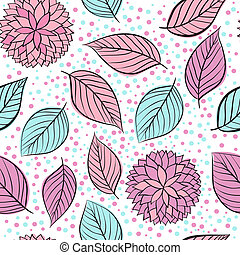 beauty seamless floral pink vector background