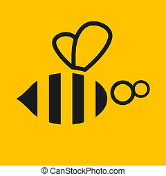 Abstract bee illustration. Stock vector