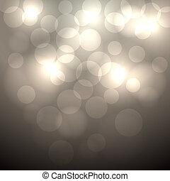Abstract beige bokeh vector background.