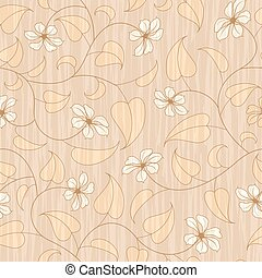 abstract beige floral seamless background