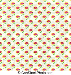 Abstract berry seamless pattern on a light background