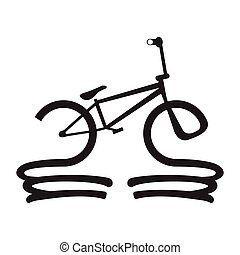 Abstract bicycle icon