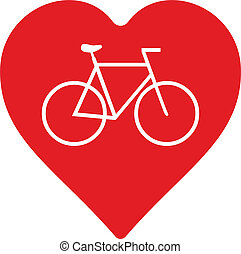 bicycle - abstract bicycle with heart as decorative element