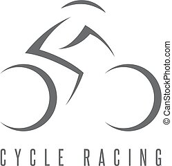 abstract bicyclist cycle racing vector design template