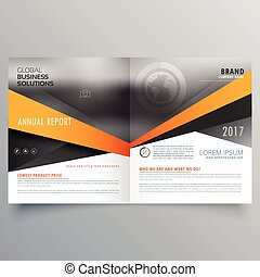 abstract bifold business template design with space for your image