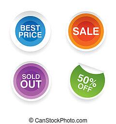 big sale labels