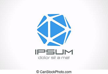 abstract., bijouterie, concept., editable., cristal, vector., logo