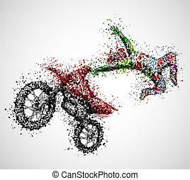 Abstract biker
