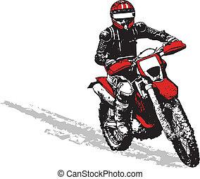 biker - abstract biker
