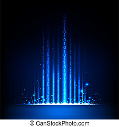 Abstract Binary Background - illustration of binary code on...
