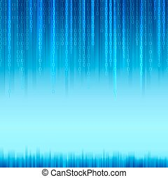Abstract binary code background. - Abstract binary code on...
