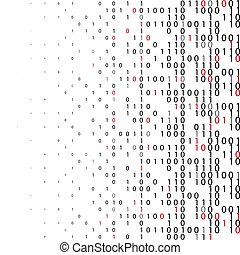 Abstract binary code Technology Background.