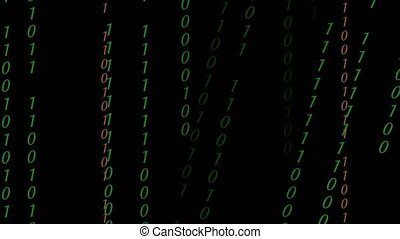 Abstract Binary Digital Code in color