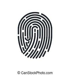 Fingerprint - Abstract Bio-metric Fingerprint Icon Detailed...