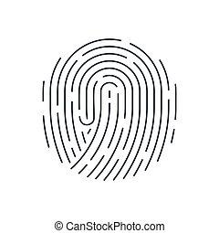 Fingerprint - Abstract Bio-metric Fingerprint Scan Icon....