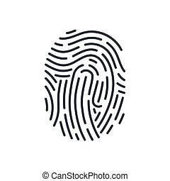 Fingerprint - Abstract Bio-metric Icon Detailed for...
