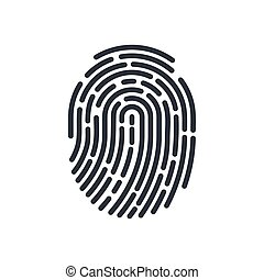 Abstract Bio-metric Icon Detailed for Fingerprint Scan Biometric Concept Icon on White