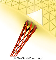 abstract biological structures illustration in 3d