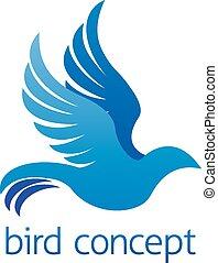 Abstract bird design