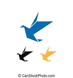 Abstract bird graphic design template vector illustration