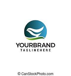 abstract Bird logo design concept template vector