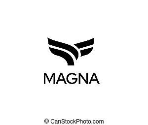 Abstract bird logo design. Eagle falcon hawk emblem sign symbol mark logotype. Abstract cow steak premium logo design. Creative bull horns line vector icon symbol