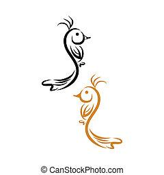 bird symbol - abstract bird symbol