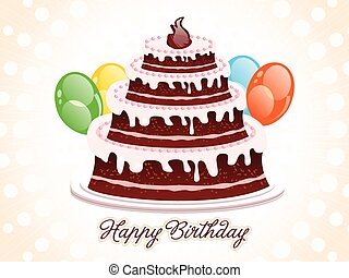 Abstract birthday cake background vector illustration